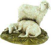 Gruppo 2 pecore su base per presepe cm 12 - Linea Martino Landi