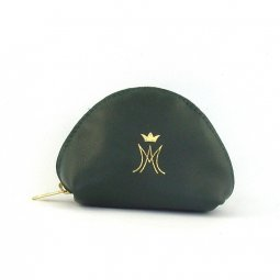 Copertina di 'Portarosario a mezzaluna con zip e simbolo mariano - colore verde'