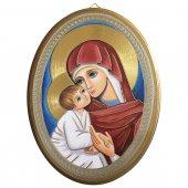"""Icona ovale """"Madre della Divina Grazia"""" - dimensioni 21,5x16 cm"""