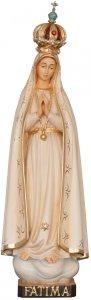 """Copertina di 'Statua in legno dipinta a mano """"Madonna di Fatima con corona"""" - altezza 27 cm'"""