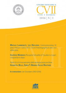 Copertina di 'Commemorating 50 years Vatican II (2012-2015). Some historiographical data and reflections'
