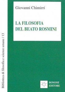 Copertina di 'La filosofia del beato Rosmini'
