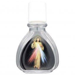 """Copertina di 'Boccetta bombata per acqua santa """"Gesù Misericordioso"""" - altezza 8 cm'"""