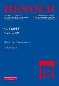 Copertina di 'Henoch. 40/1 (2018): Libraries and Cultural Memory.'