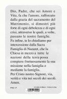 """Immagine di 'Card pvc con preghiera """"Sacra Famiglia""""'"""