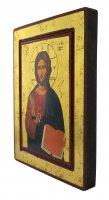 Immagine di 'Icona Cristo Pantocratore con libro aperto, produzione greca su legno - 25 x 19 cm'