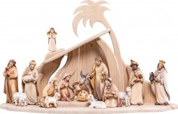 Copertina di 'Presepe completo in legno Val Gardena Artis 17 pezzi - Demetz - Deur - presepe in legno colorato da 15 cm.'