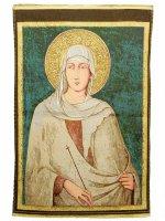 """Arazzo """"Santa Chiara"""" (47cm x 35cm)"""