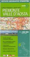 Piemonte e Valle d'Aosta 1:200 000. Ediz. multilingue