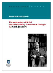 Copertina di 'Phenomenology  of belief'