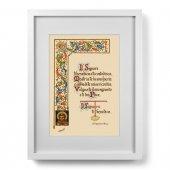 """Quadro """"Il Signore ti benedica e ti custodisca"""" (30x40) - San Francesco d'Assisi"""