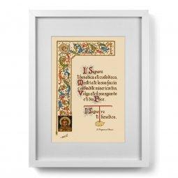 """Copertina di 'Quadro """"Il Signore ti benedica e ti custodisca"""" (30x40)'"""