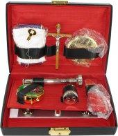 Astuccio ( kit celebrazione messa) con altare 11 oggetti