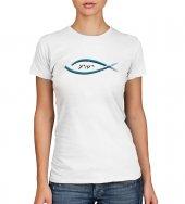 T-shirt Yeshua con pesce e scritta - taglia XL - donna