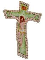 Calamita colorata a forma di croce moderna - dimensioni 7,5x5 cm