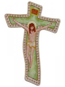 Copertina di 'Calamita colorata a forma di croce moderna - dimensioni 7,5x5 cm'