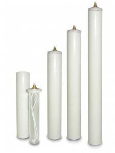 Copertina di 'Candela a cera liquida con cartuccia diam. 4 cm per candela alta 25 cm'