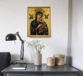 """Immagine di 'Quadro  con lamina oro e cornice dorata """"Madonna del Perpetuo Soccorso"""" - 44 x 34 cm'"""