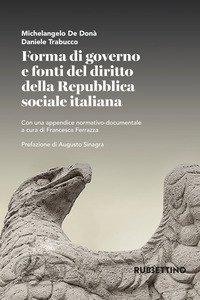 Copertina di 'Forma di governo e fonti del diritto della Repubblica'