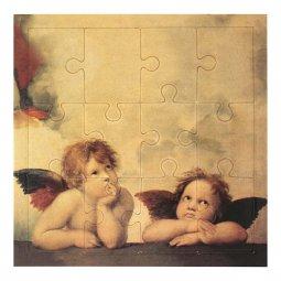 """Copertina di 'Mini puzzle """"Angeli"""" di Raffaello - 12 pezzi'"""