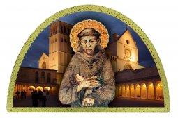 Copertina di 'Tavola San Francesco Assisi stampa su legno ad arco - 18 x 12 cm'