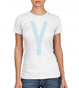 Copertina di 'T-shirt Yeshua azzurra con scritte - taglia S - donna'