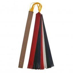 Copertina di 'Segnalibro 7 nistole in pelle e una in cuoio per messale o lezionario - dimensioni 30x2,5 cm'