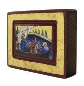 Immagine di 'Icona Gesù e Discepoli - tempesta sedata, produzione greca su legno (8 x 6 cm)'