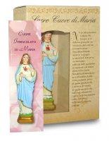 Immagine di 'Statua del Sacro Cuore di Maria da 12 cm in confezione regalo con segnalibro'