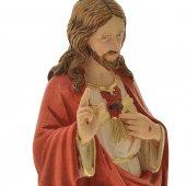 """Immagine di 'Statua in resina colorata """"Sacro Cuore Gesù"""" - altezza 30 cm'"""