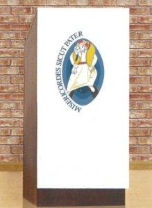 Copertina di 'Coprileggio avorio con simbolo del Giubileo delle Misericordia'