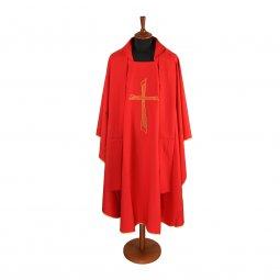 Copertina di 'Casula rossa economica con croce stilizzata'