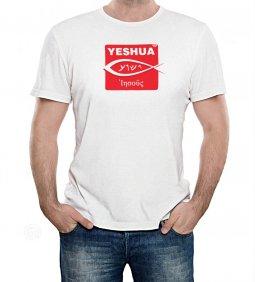"""Copertina di 'T-shirt """"Iesoûs"""" targa con pesce - taglia L - uomo'"""
