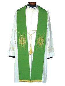 Copertina di 'Stola ricamo croce e piume di pavone verde'