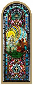 Copertina di 'Tavola Madonna di Fatima stampa tipo vetrata su legno - 10 x 27 cm'