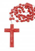 Immagine di 'Rosario in plastica rosso 6 mm'