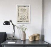 """Immagine di 'Quadro con preghiera """"Uomini liberi"""" su cornice minimal - dimensioni 44x34 cm'"""