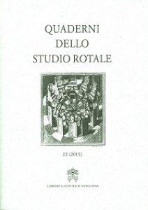 Copertina di 'Quaderni dello Studio Rotale 22 (2015)'