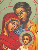 """Immagine di 'Icona """"Santa Famiglia"""" (cm 19,5 x 13,5)'"""