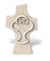 Croce comunione da appoggio effetto pietra