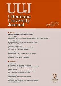 Copertina di 'Urbaniana University Journal. Marzo 2018'