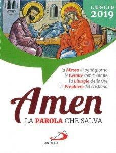 Copertina di 'Amen. La Parola che salva. Luglio 2019'